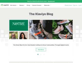 blog.klaviyo.com screenshot