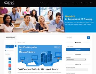 blog.koenig-solutions.com screenshot