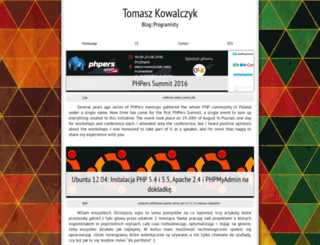 blog.kowalczyk.cc screenshot