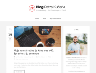 blog.kucerka.sk screenshot