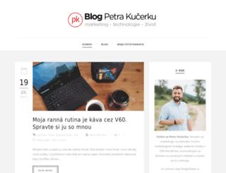 blog.kucerka.sk screenshot