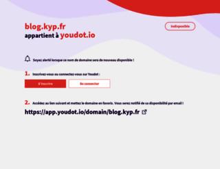 blog.kyp.fr screenshot