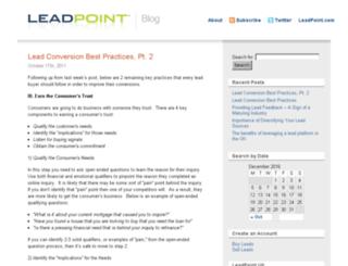 blog.leadpoint.com screenshot