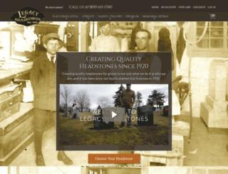 blog.legacyheadstones.com screenshot