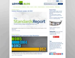 blog.leviton.com screenshot