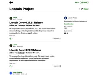 blog.litecoin.org screenshot