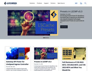 blog.litespeedtech.com screenshot