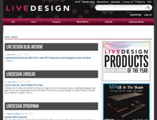 blog.livedesignonline.com screenshot