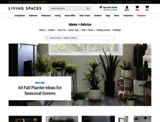blog.livingspaces.com screenshot