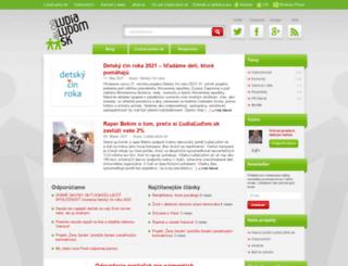 blog.ludialudom.sk screenshot