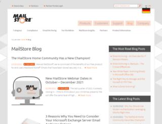 blog.mailstore.com screenshot