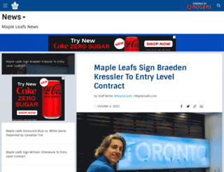 blog.mapleleafs.com screenshot