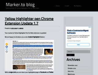blog.marker.to screenshot