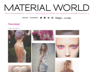 blog.materialgirlcollection.com screenshot