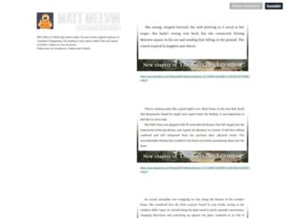 blog.mattmelvin.com screenshot