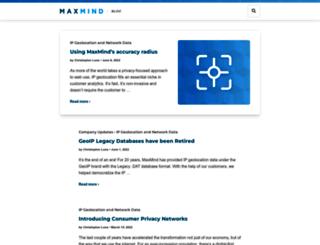 blog.maxmind.com screenshot