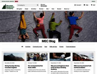 blog.mec.ca screenshot