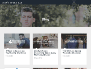 blog.mensstylelab.com screenshot