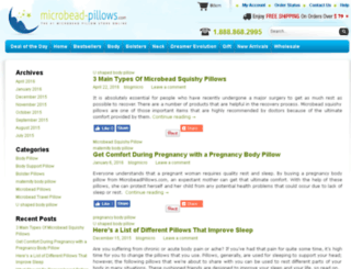 blog.microbeadpillows.com screenshot