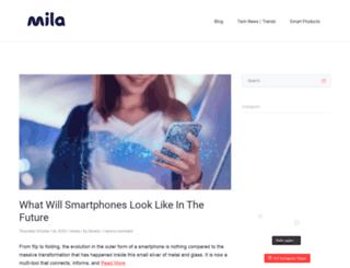 blog.mila.com screenshot