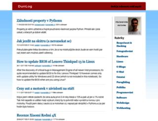 blog.milde.cz screenshot