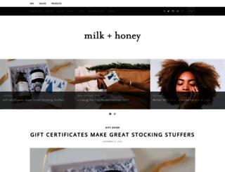 blog.milkandhoneyspa.com screenshot