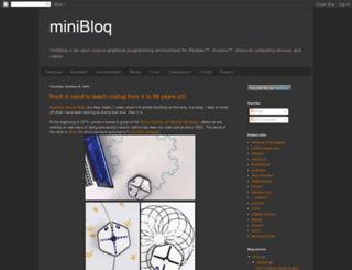 blog.minibloq.org screenshot