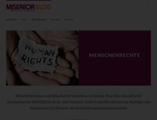 blog.misereor.de screenshot