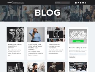 blog.modelmanagement.com screenshot