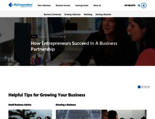 blog.mycorporation.com screenshot