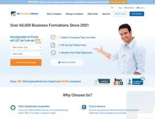 blog.mynewcompany.com screenshot