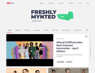 blog.myntra.com screenshot