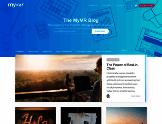 blog.myvr.com screenshot