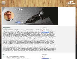 blog.myzitate.de screenshot