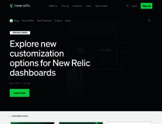 blog.newrelic.com screenshot