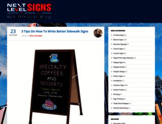 blog.nextlevelcustomsigns.com screenshot