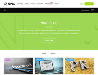 blog.ning.com screenshot