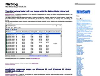 blog.nirsoft.net screenshot
