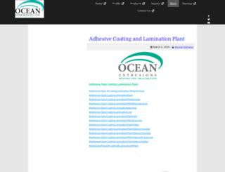 blog.oceanextrusions.com screenshot
