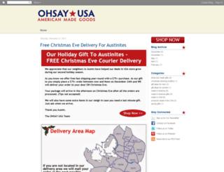 blog.ohsayusa.com screenshot
