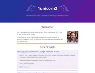 blog.oneunicorn.com screenshot