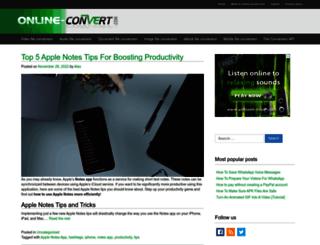 blog.online-convert.com screenshot