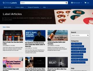 blog.onlinelabels.com screenshot