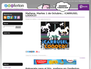 blog.oooferton.com screenshot