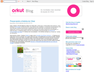 blog.orkut.com screenshot
