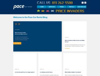blog.pacecarrental.co.za screenshot