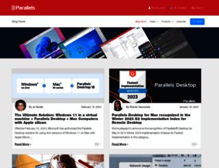blog.parallels.com screenshot