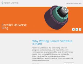 blog.paralleluniverse.co screenshot
