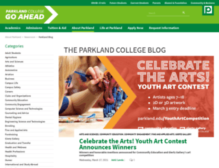 blog.parkland.edu screenshot