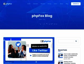 blog.phpfox.com screenshot